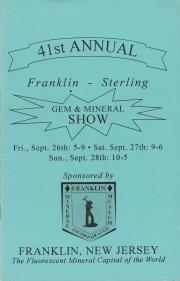 41st Annual Franklin-Sterling Gem and Mineral Show - 1997