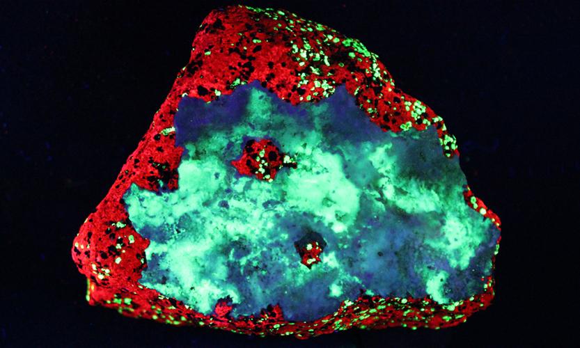 image in UV light