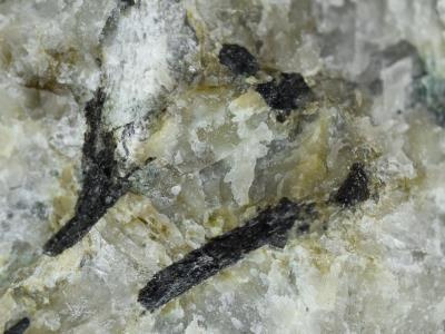 Allanite-(Ce) in microcline from Franklin, NJ.