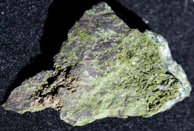 Epidote crystals  from Sterling Hill. Actual image width 2 inches